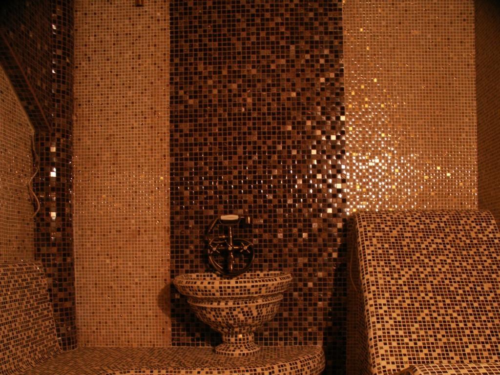 Облицовка мозаикой турецкой бани