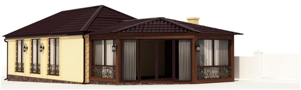 Дом с бассейном и сауной